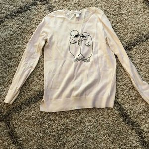 Loft crew sweater with embroidery-S